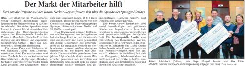 Nikolausmarkt der Mitarbeiter des Springer Verlags (RNZ vom 15.1.15)