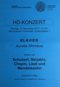 HD-KONZERT am 13. November 2017 um 20 Uhr