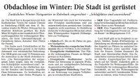 Obdachlose im Winter: Die Stadt ist gerüstet