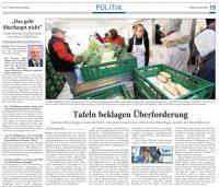 """Mehrere Artikel zum Thema """"Tafeln decken Armut auf"""""""