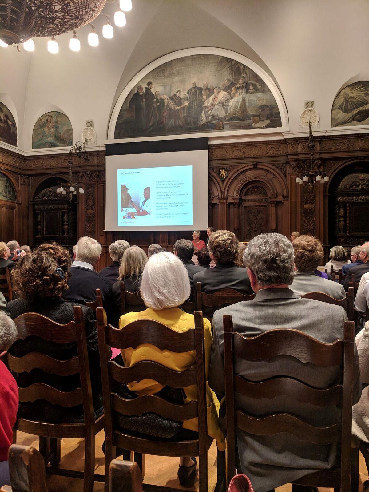 Verleihung der Bürgerplakette der Stadt Heidelberg an Marianne Ammerl