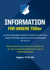TSG Hoffenheim spendet Erlös aus Bratwurstverkauf