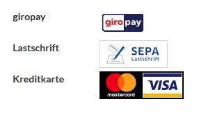 Neue Spendenoptionen: Paypal, Giropay, Kreditkarte