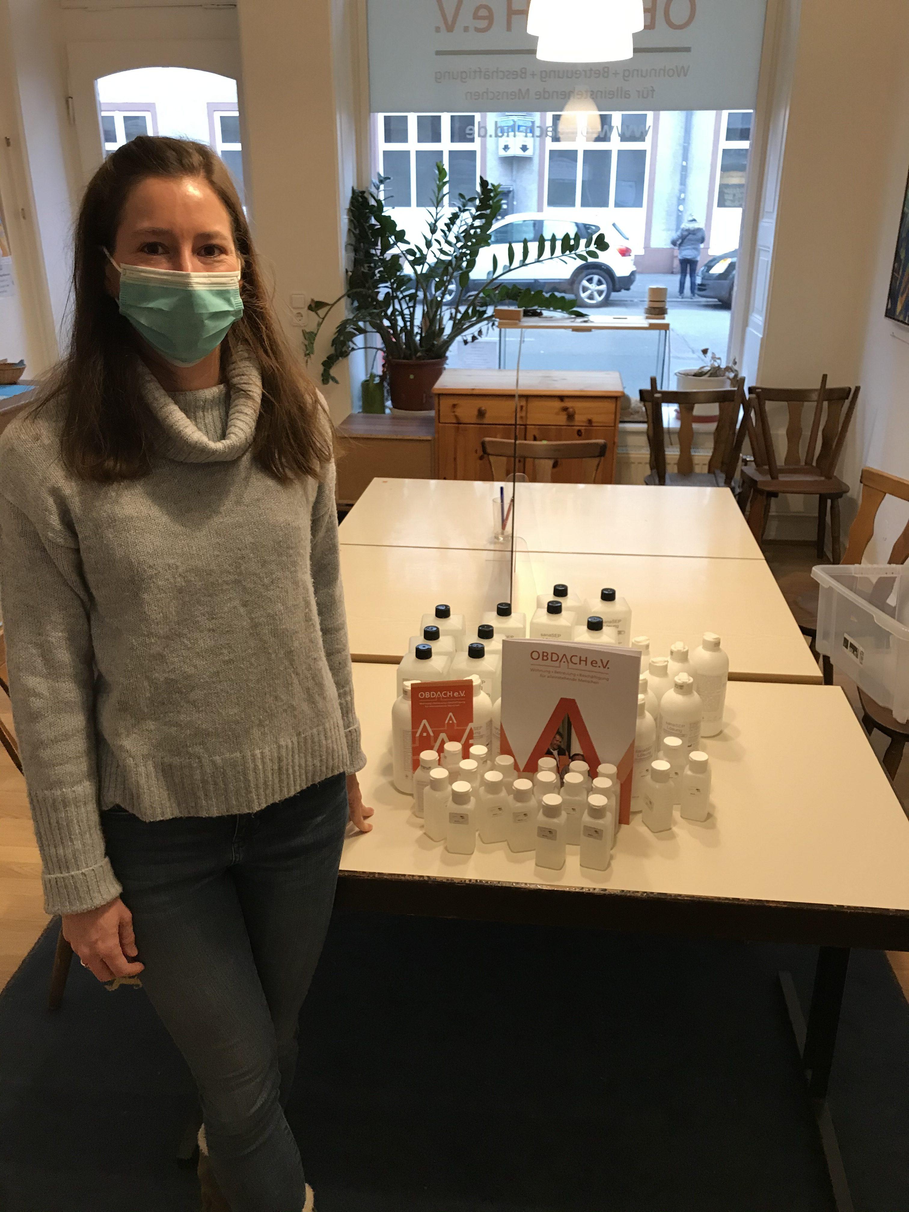 Desinfektionsmittel-Spende