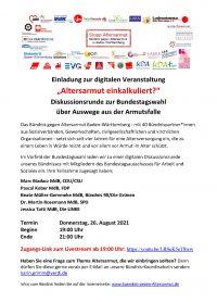 Digitale Veranstaltung zur Vermeidung von Altersarmut