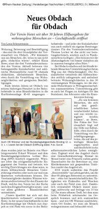Einweihungsfeier der neuen OBDACH-Geschäftsstelle