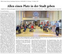 Artikel der Rhein-Neckar Zeitung vom 19.10.21 zur Auftaktveranstaltung der Armutswoche